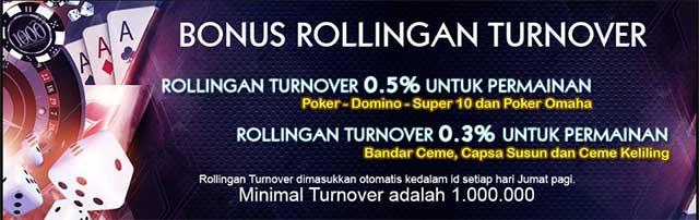 bonus rollingan turnover pokervit