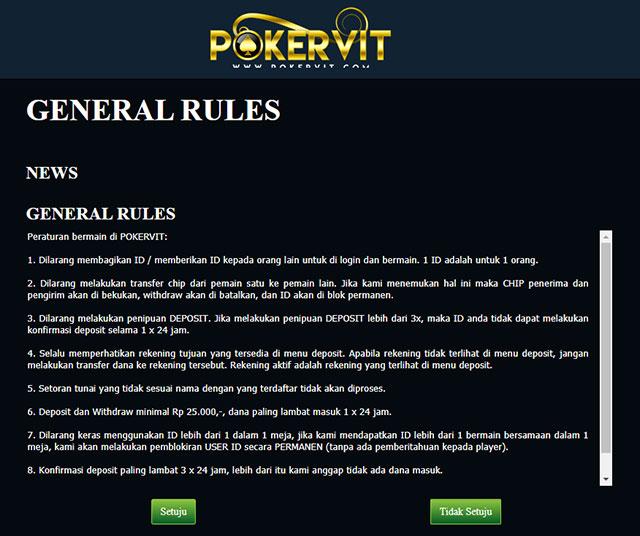 general rules poker
