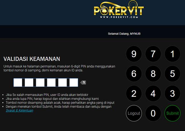 validasi keamanan login pkv